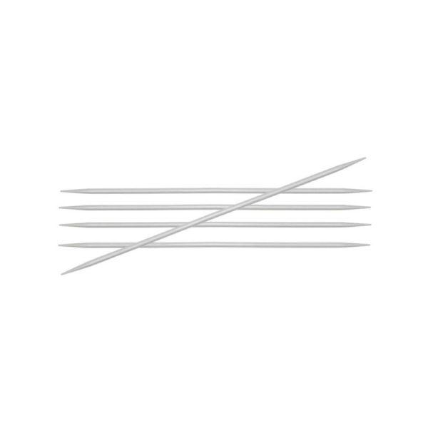 KnitPro Basix Aluminium Strømpepinner
